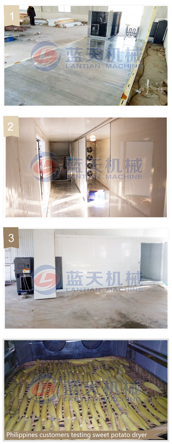 Installing site of agriculture dryer machine