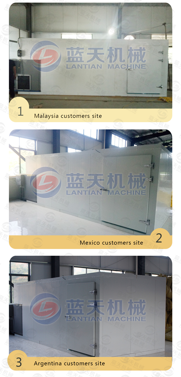 Customers site of agriculture dryer machine