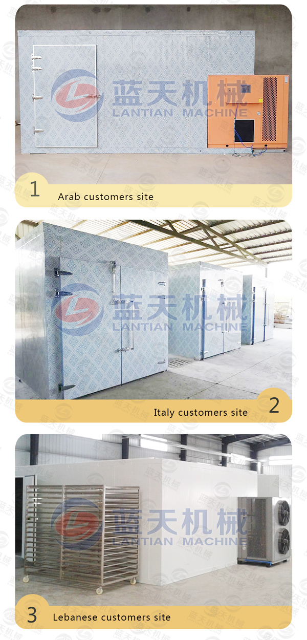Customer site of noodles dryer