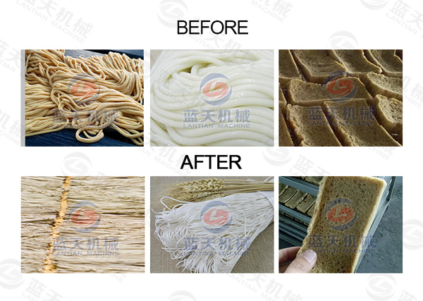 Drying effect of noodles dryer